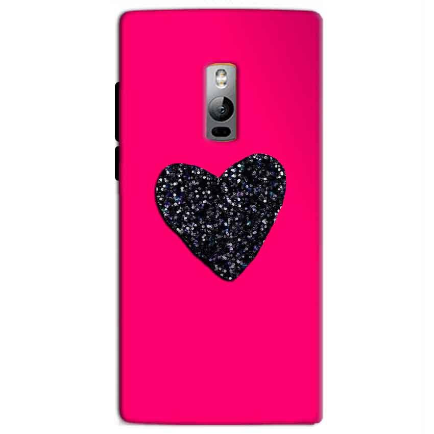 One Plus 2 Two Mobile Covers Cases Pink Glitter Heart - Lowest Price - Paybydaddy.com
