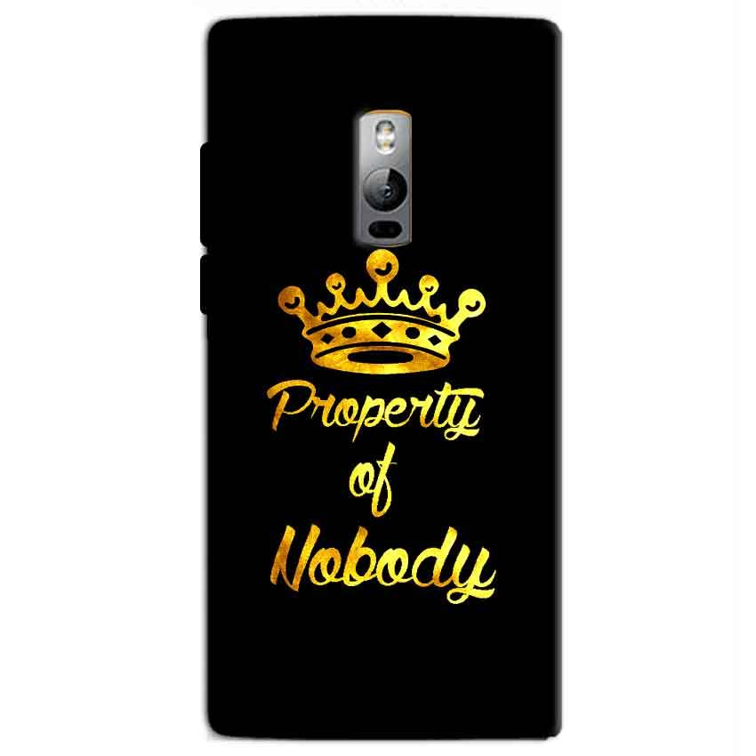 One Plus 2 Two Mobile Covers Cases Property of nobody with Crown - Lowest Price - Paybydaddy.com