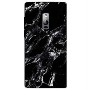 One Plus 2 Two Mobile Covers Cases Pure Black Marble Texture - Lowest Price - Paybydaddy.com