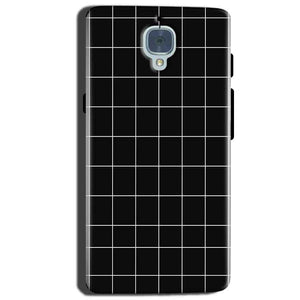 One Plus 3T Mobile Covers Cases Black with White Checks - Lowest Price - Paybydaddy.com