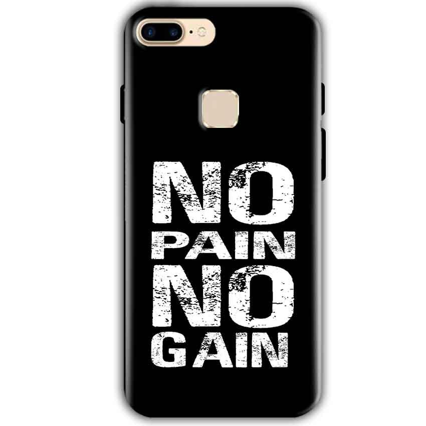 One Plus 5T Mobile Covers Cases No Pain No Gain Black And White - Lowest Price - Paybydaddy.com
