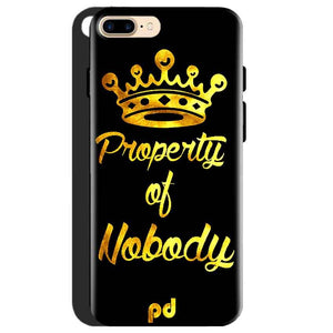 One Plus 5 Mobile Covers Cases Property of nobody with Crown - Lowest Price - Paybydaddy.com