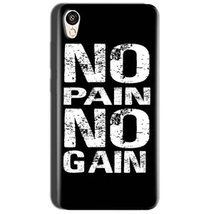 Oppo A37 Mobile Covers Cases No Pain No Gain Black And White - Lowest Price - Paybydaddy.com
