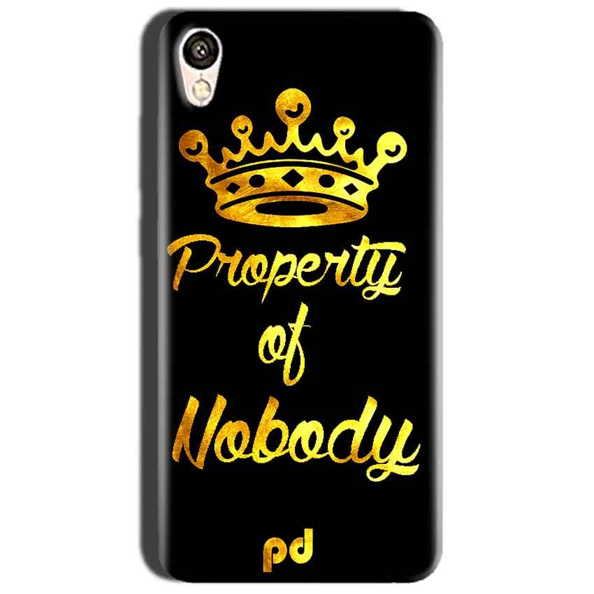 Oppo A37 Mobile Covers Cases Property of nobody with Crown - Lowest Price - Paybydaddy.com