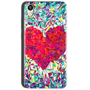 Oppo A37 Mobile Covers Cases heart Prisma design - Lowest Price - Paybydaddy.com