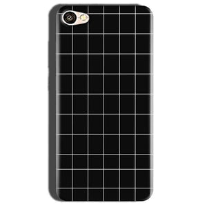 Oppo A57 Mobile Covers Cases Black with White Checks - Lowest Price - Paybydaddy.com