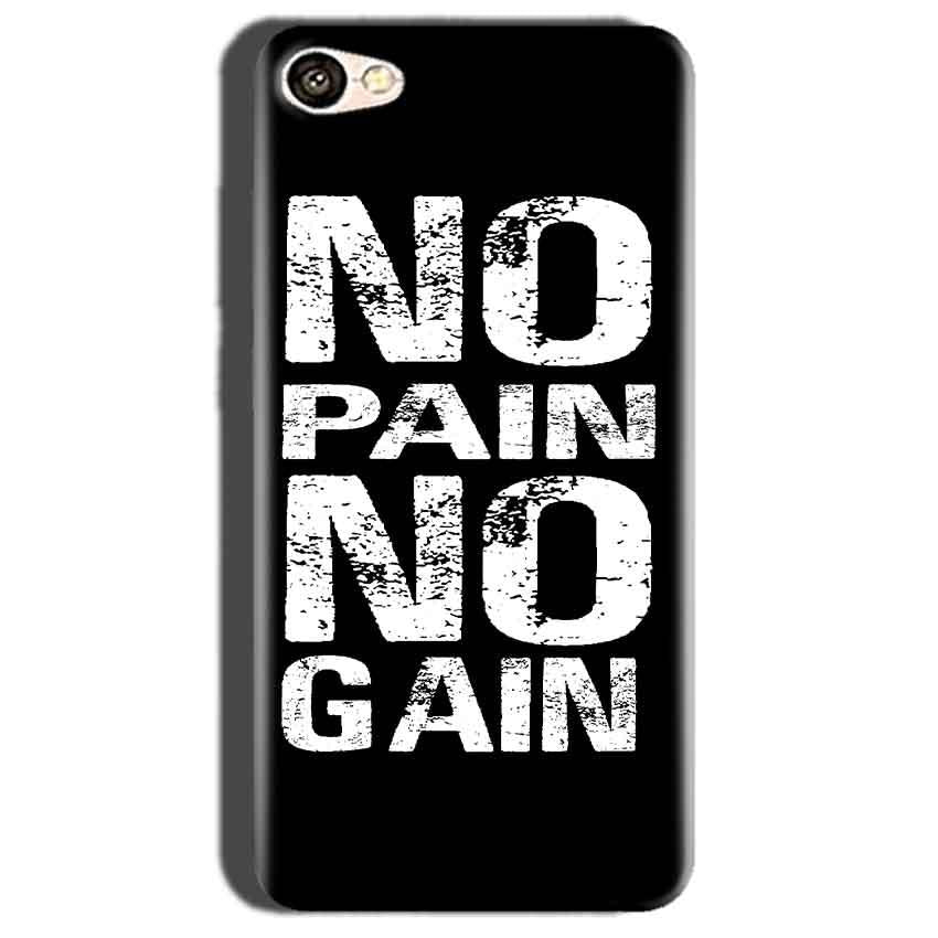 Oppo A57 Mobile Covers Cases No Pain No Gain Black And White - Lowest Price - Paybydaddy.com
