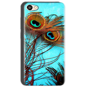 Oppo A57 Mobile Covers Cases Peacock blue wings - Lowest Price - Paybydaddy.com