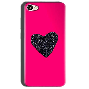 Oppo A57 Mobile Covers Cases Pink Glitter Heart - Lowest Price - Paybydaddy.com