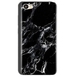 Oppo A57 Mobile Covers Cases Pure Black Marble Texture - Lowest Price - Paybydaddy.com