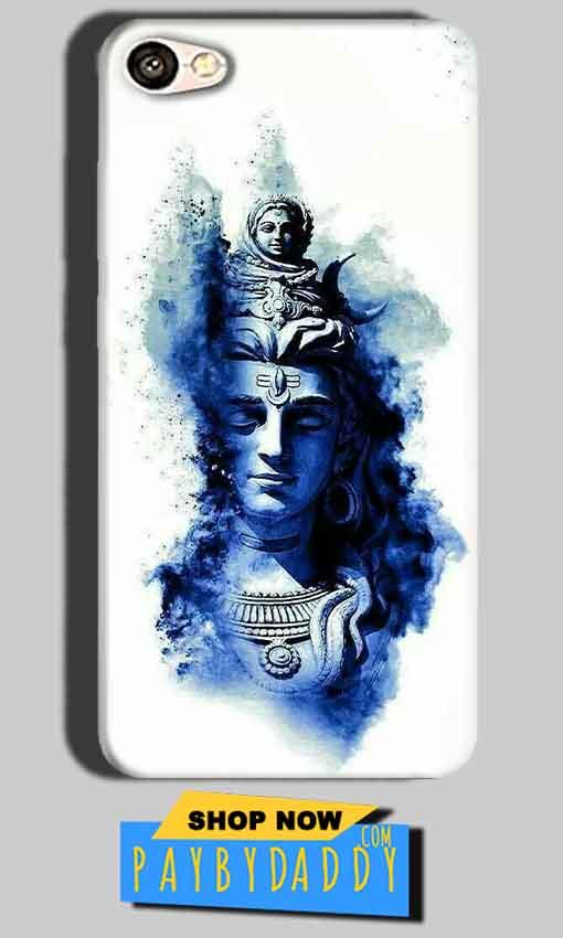 Oppo A57 Mobile Covers Cases Shiva Blue White - Lowest Price - Paybydaddy.com