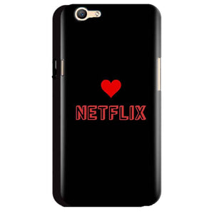 Oppo A59 Mobile Covers Cases NETFLIX WITH HEART - Lowest Price - Paybydaddy.com