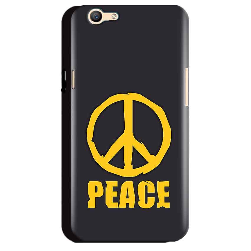 Oppo A59 Mobile Covers Cases Peace Blue Yellow - Lowest Price - Paybydaddy.com
