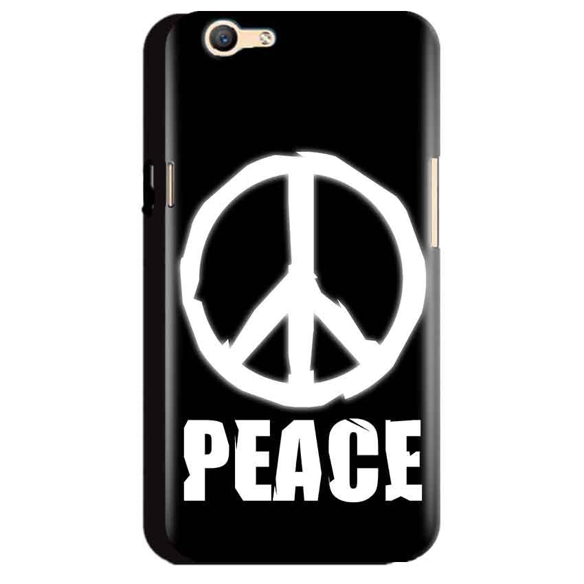 Oppo A59 Mobile Covers Cases Peace Sign In White - Lowest Price - Paybydaddy.com