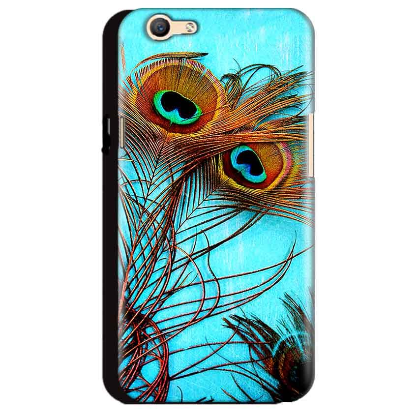 Oppo A59 Mobile Covers Cases Peacock blue wings - Lowest Price - Paybydaddy.com