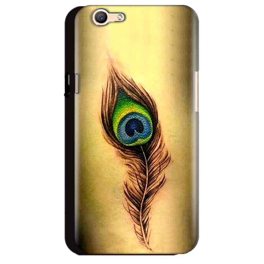 Oppo A59 Mobile Covers Cases Peacock coloured art - Lowest Price - Paybydaddy.com