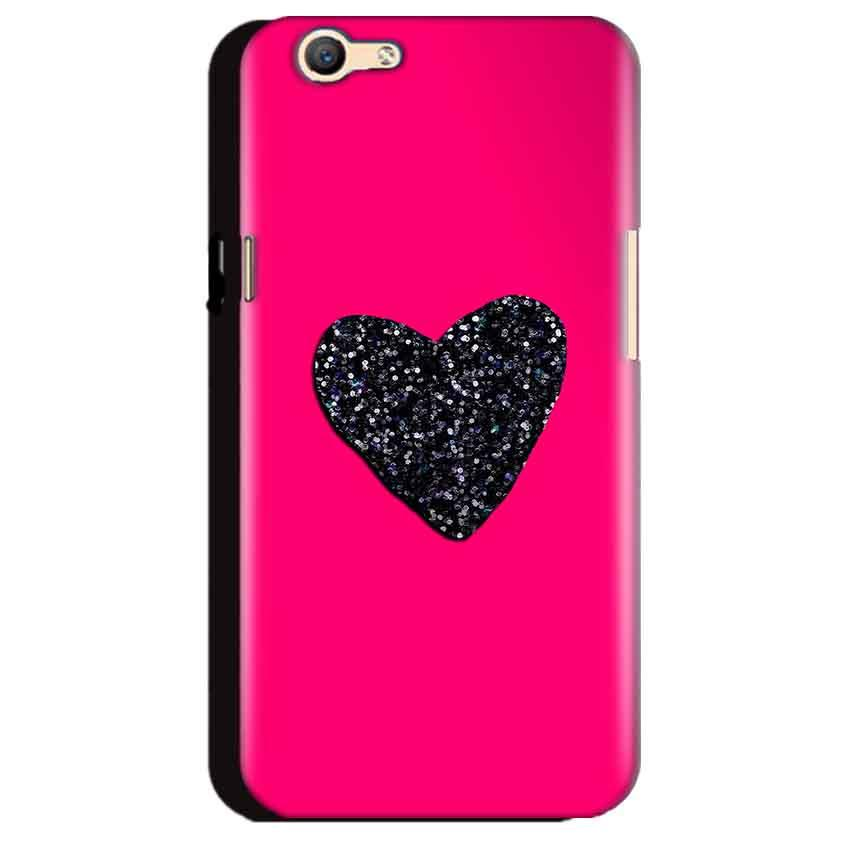 Oppo A59 Mobile Covers Cases Pink Glitter Heart - Lowest Price - Paybydaddy.com