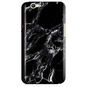 Oppo A59 Mobile Covers Cases Pure Black Marble Texture - Lowest Price - Paybydaddy.com