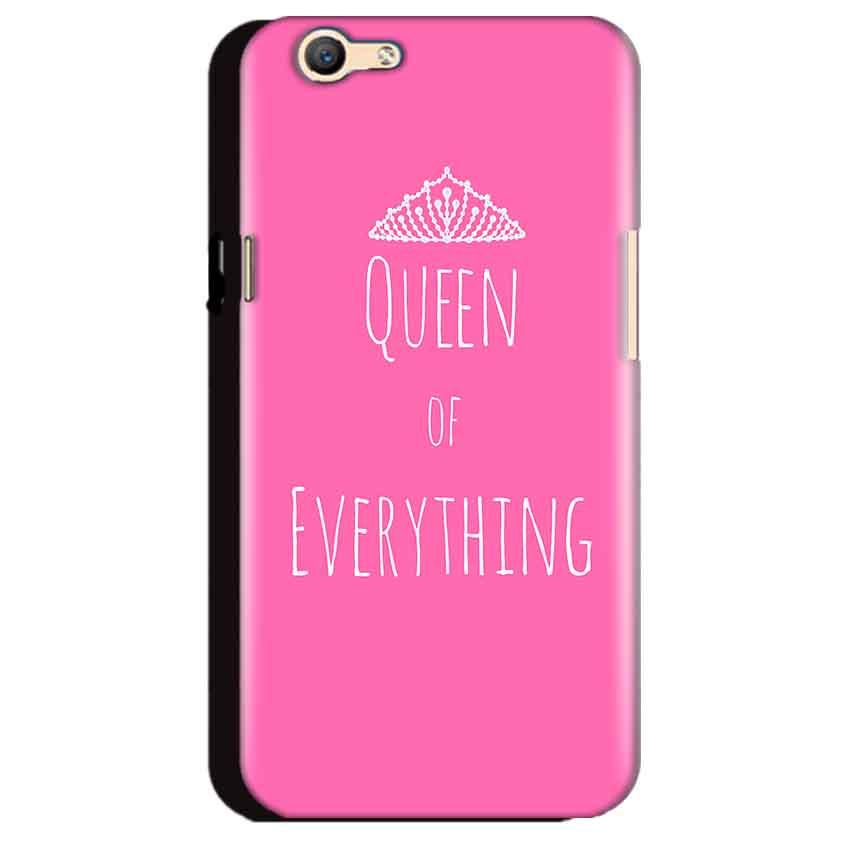 Oppo A59 Mobile Covers Cases Queen Of Everything Pink White - Lowest Price - Paybydaddy.com