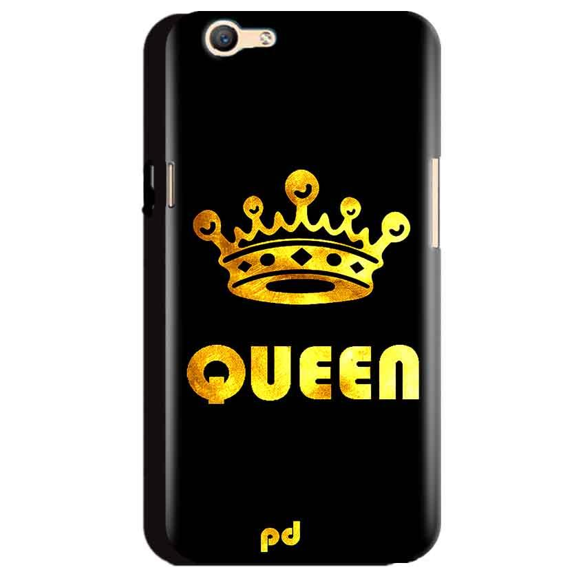 Oppo A59 Mobile Covers Cases Queen With Crown in gold - Lowest Price - Paybydaddy.com