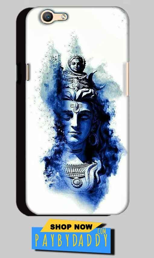 Oppo A59 Mobile Covers Cases Shiva Blue White - Lowest Price - Paybydaddy.com