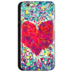 Oppo A59 Mobile Covers Cases heart Prisma design - Lowest Price - Paybydaddy.com