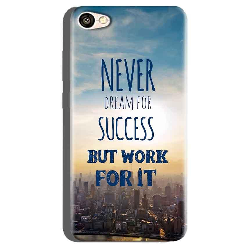 Oppo A71 Mobile Covers Cases Never Dreams For Success But Work For It Quote - Lowest Price - Paybydaddy.com
