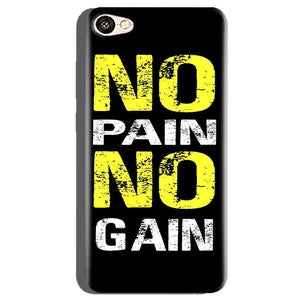 Oppo A71 Mobile Covers Cases No Pain No Gain Yellow Black - Lowest Price - Paybydaddy.com