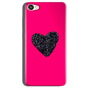 Oppo A71 Mobile Covers Cases Pink Glitter Heart - Lowest Price - Paybydaddy.com