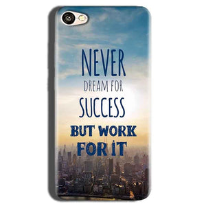 Oppo A83 Mobile Covers Cases Never Dreams For Success But Work For It Quote - Lowest Price - Paybydaddy.com