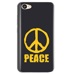 Oppo A83 Mobile Covers Cases Peace Blue Yellow - Lowest Price - Paybydaddy.com