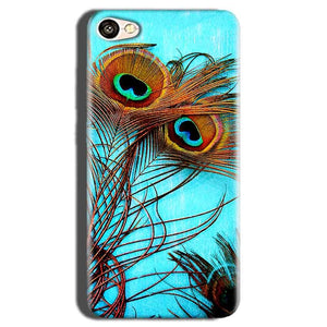 Oppo A83 Mobile Covers Cases Peacock blue wings - Lowest Price - Paybydaddy.com