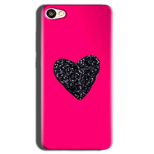 Oppo A83 Mobile Covers Cases Pink Glitter Heart - Lowest Price - Paybydaddy.com