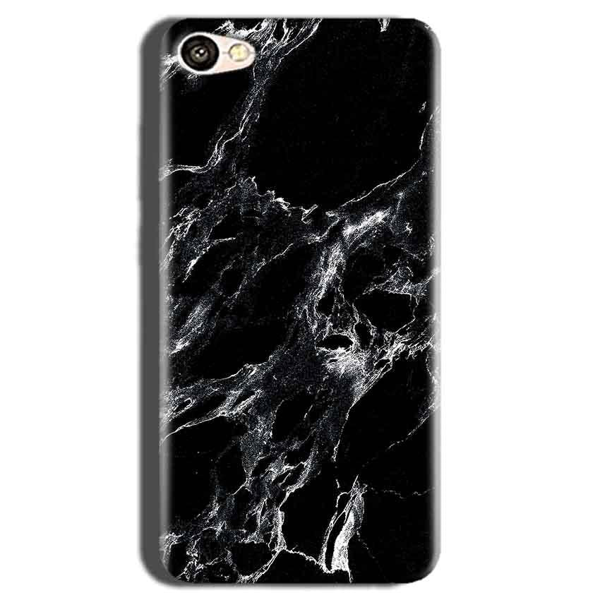 Oppo A83 Mobile Covers Cases Pure Black Marble Texture - Lowest Price - Paybydaddy.com