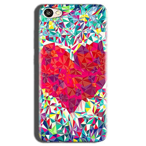 Oppo A83 Mobile Covers Cases heart Prisma design - Lowest Price - Paybydaddy.com