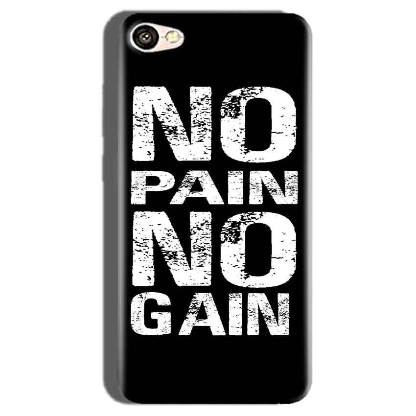 Oppo F1S Mobile Covers Cases No Pain No Gain Black And White - Lowest Price - Paybydaddy.com