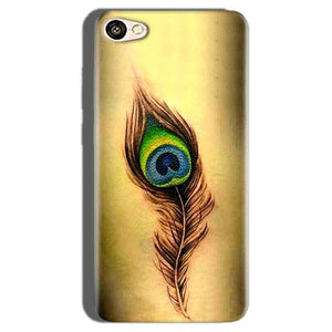 Oppo F1S Mobile Covers Cases Peacock coloured art - Lowest Price - Paybydaddy.com