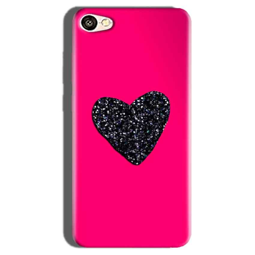 Oppo F1S Mobile Covers Cases Pink Glitter Heart - Lowest Price - Paybydaddy.com