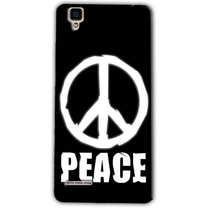 Oppo F1 Mobile Covers Cases Peace Sign In White - Lowest Price - Paybydaddy.com
