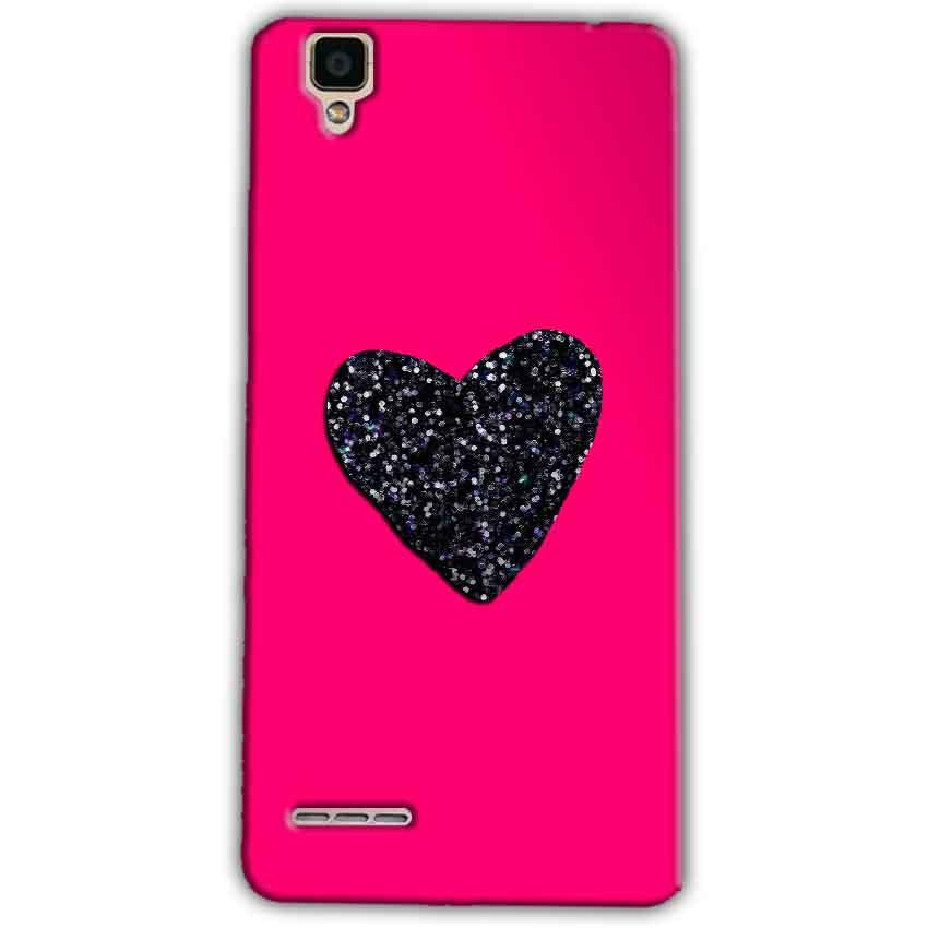 Oppo F1 Mobile Covers Cases Pink Glitter Heart - Lowest Price - Paybydaddy.com