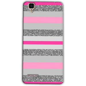 Oppo F1 Mobile Covers Cases Pink colour pattern - Lowest Price - Paybydaddy.com