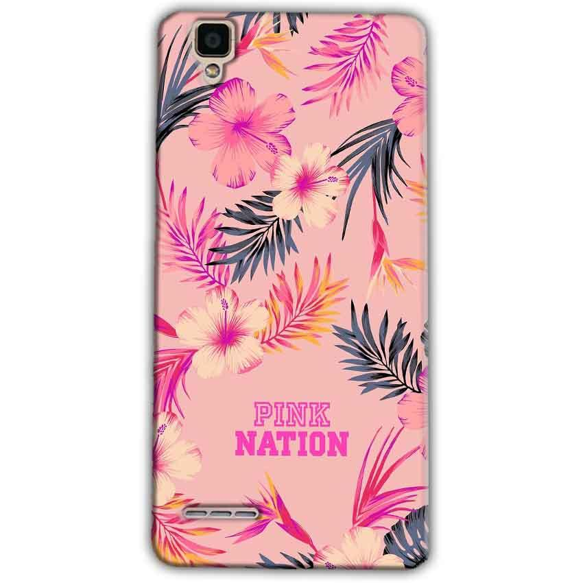 Oppo F1 Mobile Covers Cases Pink nation - Lowest Price - Paybydaddy.com