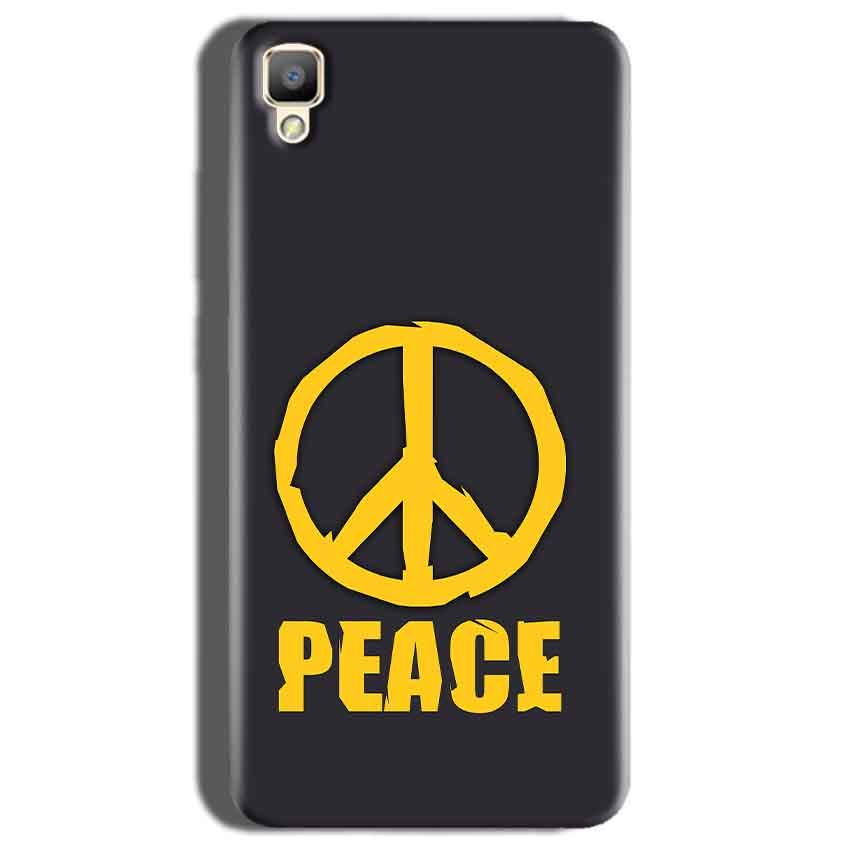 Oppo F1 Plus Mobile Covers Cases Peace Blue Yellow - Lowest Price - Paybydaddy.com