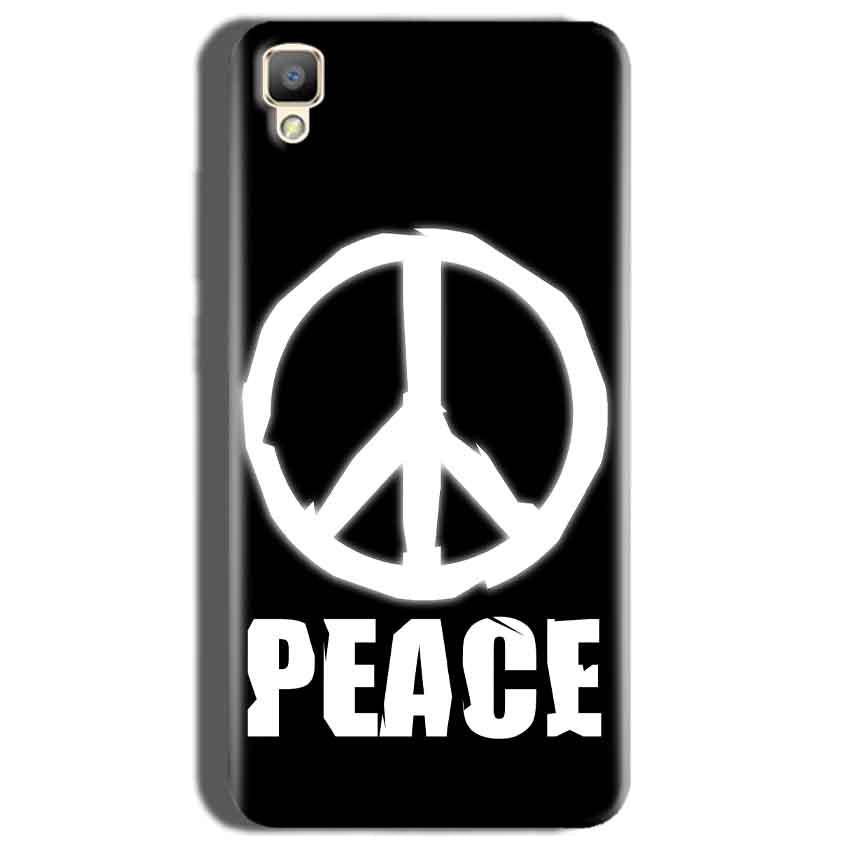 Oppo F1 Plus Mobile Covers Cases Peace Sign In White - Lowest Price - Paybydaddy.com