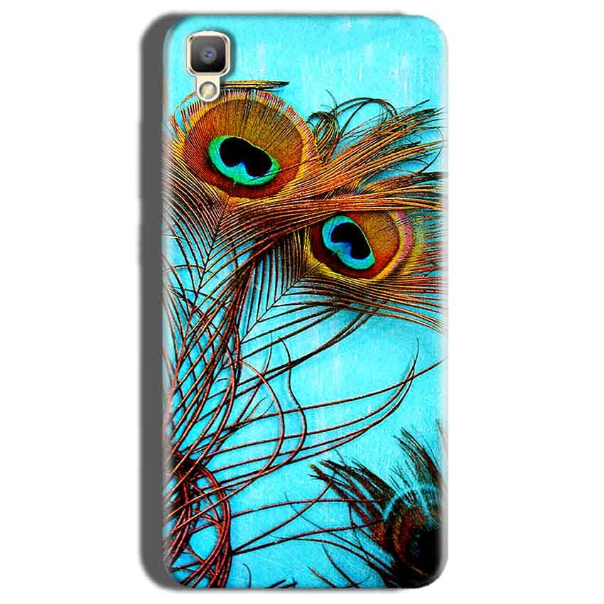 Oppo F1 Plus Mobile Covers Cases Peacock blue wings - Lowest Price - Paybydaddy.com