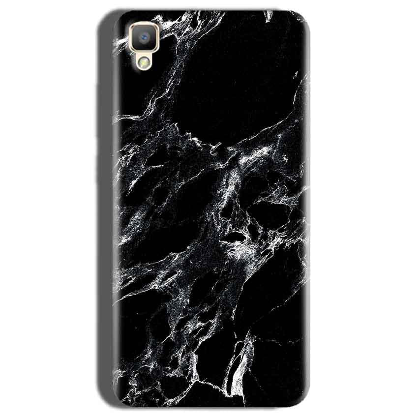 Oppo F1 Plus Mobile Covers Cases Pure Black Marble Texture - Lowest Price - Paybydaddy.com