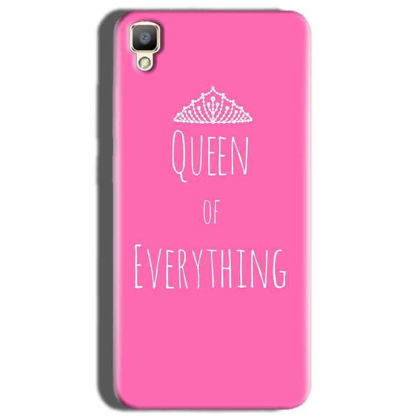 Oppo F1 Plus Mobile Covers Cases Queen Of Everything Pink White - Lowest Price - Paybydaddy.com