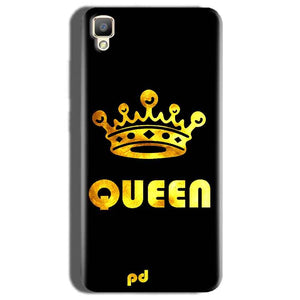 Oppo F1 Plus Mobile Covers Cases Queen With Crown in gold - Lowest Price - Paybydaddy.com