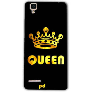 Oppo F1 Mobile Covers Cases Queen With Crown in gold - Lowest Price - Paybydaddy.com