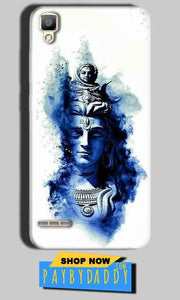 Oppo F1 Mobile Covers Cases Shiva Blue White - Lowest Price - Paybydaddy.com